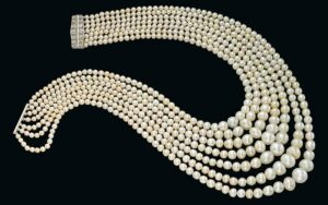 7 Strand Festoon Natural Pearl Necklace Christies