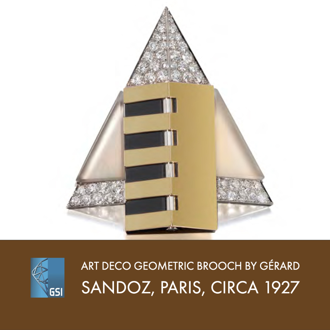 Gérard Sandoz' Art Deco Geometric Brooch