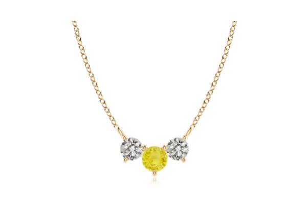 yellow diamond necklace 600
