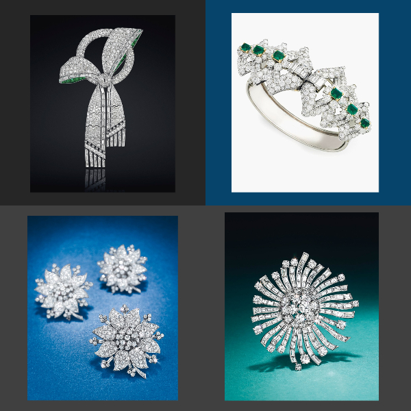 50s jewelry collage